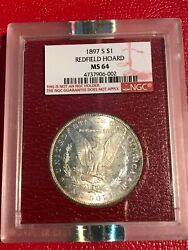 Toner- The Redfield Collection Ngc Ms64 Rare 1897 S Morgan Silver Dollar-mar905