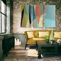 Geoscape I-a Premium Multi Piece Art Available In 3 Sizes Oversized