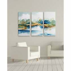 Blue Serenity-a Premium Multi Piece Art Available In 3 Sizes Oversized