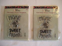 2 Packages New/sealed Mary Engelbreit Home Sweet Home Reusable Clear Stamps