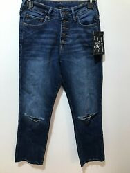 True Religion Womenand039s Size 26 Starr Cropped Straight Exposed Fly Cut Hem Jean