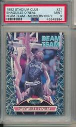 Shaquille Oand039neal 1992-93 Topps Stadium Club Beam Team Members Only Rookie Psa 9