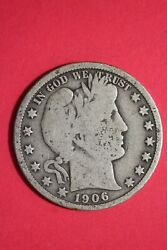 1906 P Barber Liberty Half Dollar Exact Coin Pictured Flat Rate Shipping Oce 06