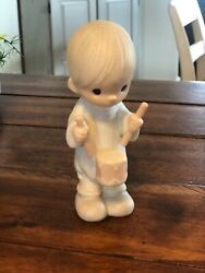 """Precious Moments Figurines Retired """"i'll Play My Drum For Him"""" 1982"""