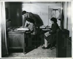 1942 Press Photo Wash Dc Porter Mansion Used As Workers Office Space In Trailers