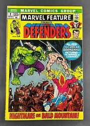 Marvel Feature 1971 2 Fn+ 2nd Appearance Defenders Ross Andru Art