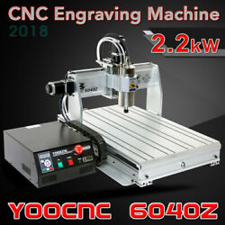 4axis Usb Port 6040 2.2kw Water Spindle Motor Usb Mach3 Cnc Engrave Machine 220v