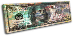 Dollar Bill Money Abstract Collage Single Canvas Wall Art Picture Print