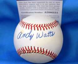 Andy Watts D.91 Signed Psa Dna American League Oal Baseball Authentic Autograph