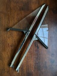 Porsche 914 Right And Left Side Quarter Vent Window Glass And Frame Channel Rails