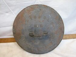 Early Cast Iron Griswold No. 9 Lg Block Logo Dutch Oven Lid 2552 Pot Pan Roaster