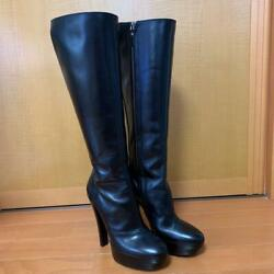 Louis Vuitton Black High Heel Boots Size Notation 35.5