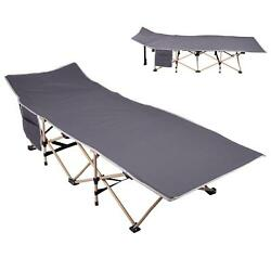 Usa Folding Bed Adjustable Guest Single Bed Lounge Hiking Camping Sleeping Bed