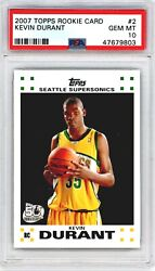 2007 Topps Kevin Durant Rookie Card Rc 50th Anniversary Psa 10 Gem Mint 2
