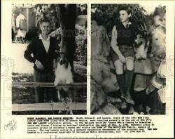 1990 Press Photo Roddy Mcdowell And Elizabeth Taylor In Lassie Come Home