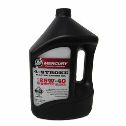 Mercury 4 Stroke Synthetic Blend 25w-40 Engine Oil 92-8m0078630 Case 3 Gallons