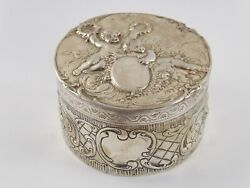 Superb Large Solid Sterling Silver Cherub Jewellery Box 1901 214 G