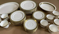 Royal Doulton Belvedere H5001 China Set Of 12 With Serving Trays