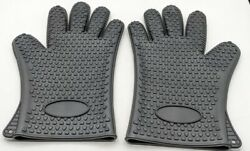 Vrp Heat Resistant Silicone Bbq Gloves Best Protective Insulated Oven, Grill,