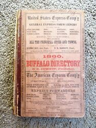 1860 Buffalo Directory W/ Every Resident And Business Association Copy + Cool Ads