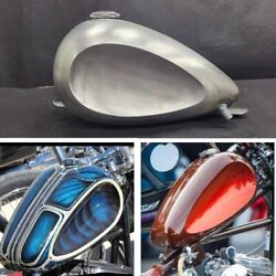 Silver 3.1gal 12l Customized Gas Fuel Tank Fit For Honda Yamaha Harley Universal