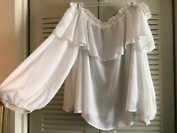 Divided  White off the shoulder Women's Blouse    XL $18.99