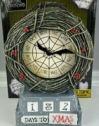 Disneys The Nightmare Before Christmas Exclusive Resin Countdown Table Clock New