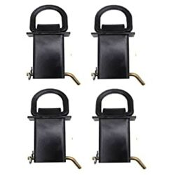 4 Pack Heavy Duty Adjustable Trailer Stake Pocket D Ring 5400 Lbs Load Limit