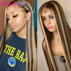 Highlight Straight Lace Front Human Hair Wig Pre Plucked Closured Remy Hair Wig
