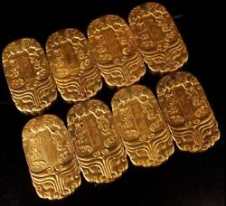 4 Old Antique Chinese Song Dynasty Exquisite 24k Gilt A Set Passage Token Token