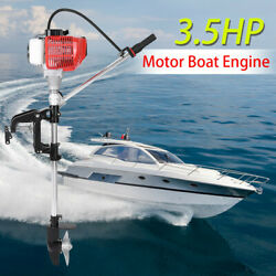 2 Stroke 3.5hp Heavy Duty Outboard Motor Boat Engine + Water Cooling Cdi System