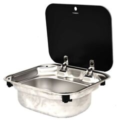 Dometic Boat Sink 9102302346   16 X 14 Inch Va8005 Stainless Glass
