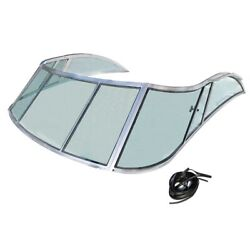 Rampage Yacht V1685400 Tinted 87 Inch Boat 3-piece Glass Windshield