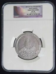 2012 Hawaii Volcanoes 5 Oz. Silver Atb Ngc Sp70 Early Releases Key Date Ap88
