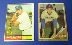 Ron Santo 2 Pack Rc 1961 Topps 35 Rookie And 1962 Topps 170 Hof Cubs Fire Sale