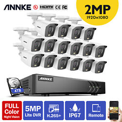 Annke 16ch 5mp H.265+ Dvr Home 1080p Full Color Night Vision Security Camera Kit