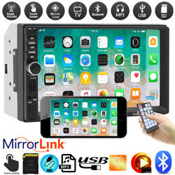 2din 7 Hd Car Stereo Radio Bluetooth Mp5 Player Touch Screen With Rear Camera