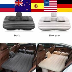 Inflatable Car Back Seat Mattress Bed Airbed For Rest Sleep Sofa Caution Traveli