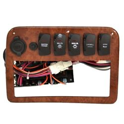 Palm Beach Pontoon Boat Switch Panel | 10 X 7 1/8 Inch W/ Fuse Block