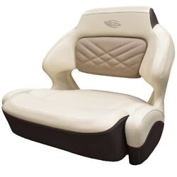 Chaparral Boat Helm Seat 31.00726 | 307 Ssx Cream Brown Wide Bolster