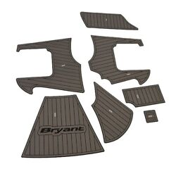 Bryant 14893 Gray Foamed Rubber 7 Piece Boat Adhesive Non Skid Flooring Mats