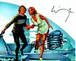 Michael York And Jenny Agutter Signed Autographed Loganand039s Run Photo
