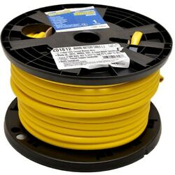 Smart Boat Marine Grade Battery Cable | 1 Awg Yellow 100 Ft Tinned