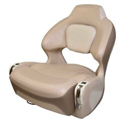 Chaparral Boat Captains Helm Seat 31.00180   Bolster W/ Swivel Taupe