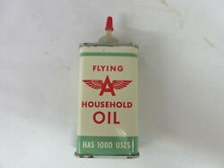Vintage Advertising Flying A Handy Home Oiler Oil Auto Tin Can A-504