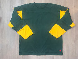 J Peterman Jersey Quilted Padded Green Bay Packers Tony Canadeo Rare Large