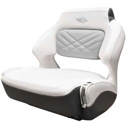 Chaparral Boat Helm Seat 31.00879   307 Ssx Wide Bolster White Slate