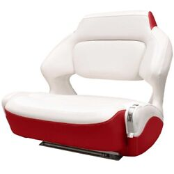 Chaparral Boat Helm Seat 31.00566 | Wide Bolster W/ Slider White Red