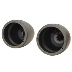 Mastercraft Boat Speaker Cans 404831ti   6 3/8 Inch Gray Lights Pair