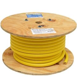 Smart Boat Marine Grade Battery Cable | 4/0 Awg Yellow 100 Ft Tinned
